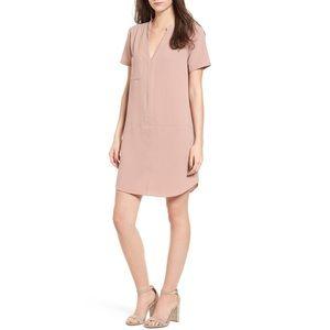 💕LUSH hailey crepe shift dress nude blush pocket
